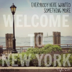 Taylor Swift 1989 Lyrics - Welcome to New York 2