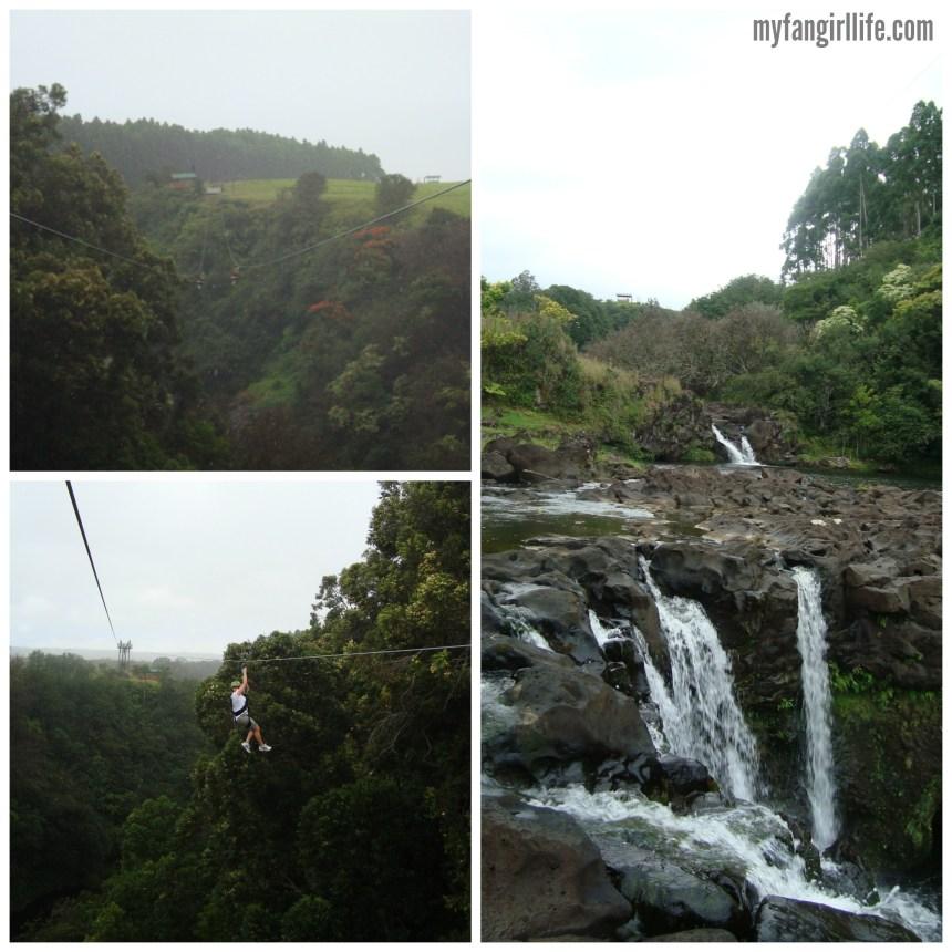 Ziplining at Akaka Falls