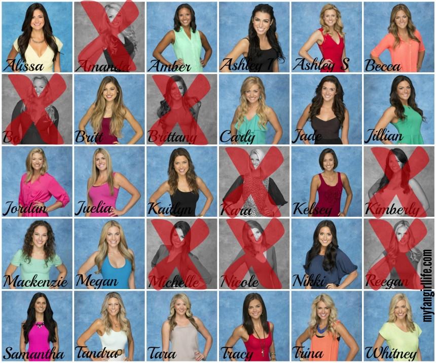 Bachelor Season 19 Chris - Week 1 Eliminations