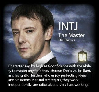 Myers Briggs Doctor Who MBTI INTJ