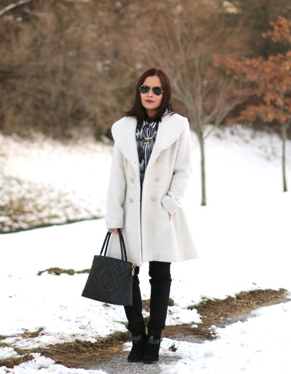 Winter White Coat2 Winter White Coat from Jessica Simpson