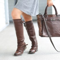 #DSWShoeHookup, Back to class, DSW, shoes, contest, winner, Drop Waist Dress, Topshop, Chooset bag, Steve madden Ravinn riding boot, boots, fall fashion