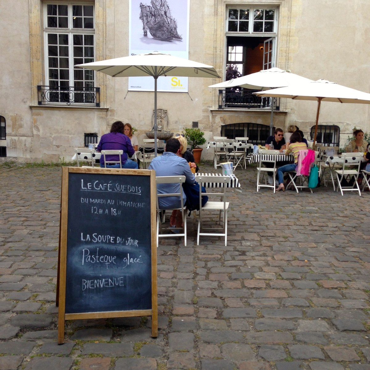 A Swedish Café and Garden in Paris