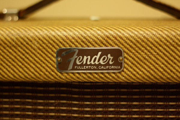 1959 Tweed Fender Champ Logo