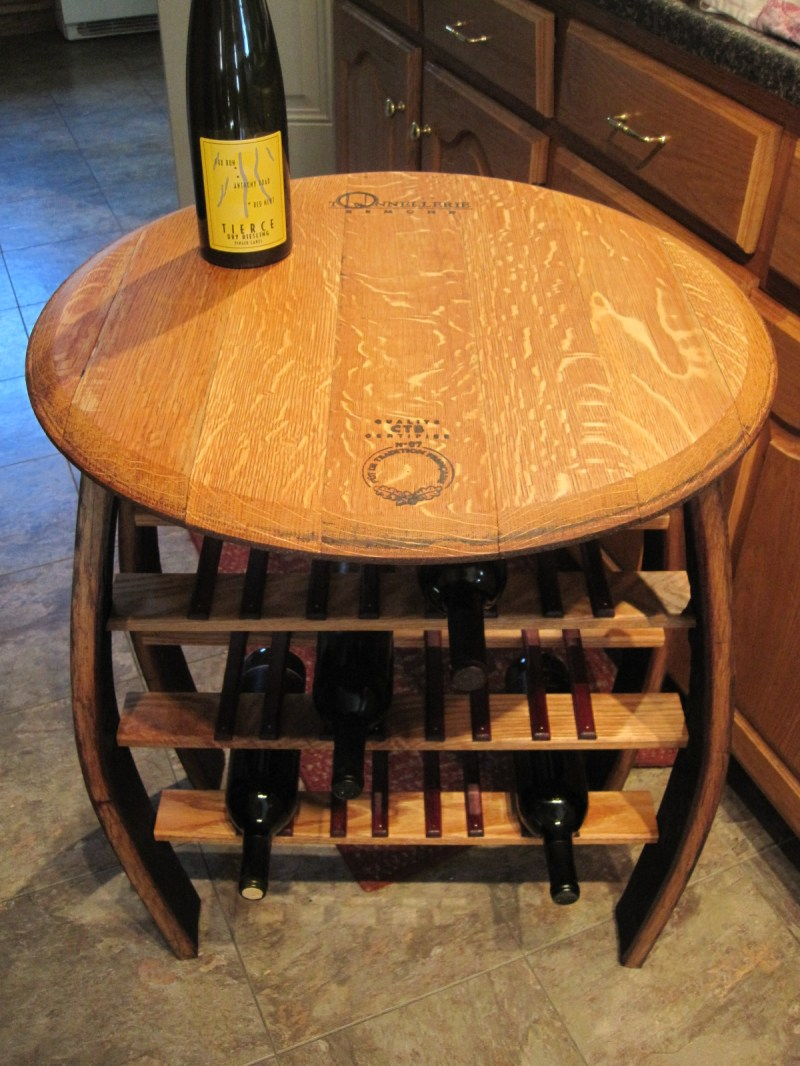 Large Of Wine Barrel Table