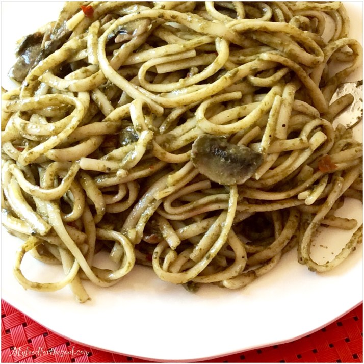Ginger Coconut Spinach Linguine My Food for the Soul