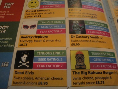 Section of Atomic Burger Menu