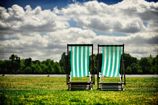 deckchairs in hyde park