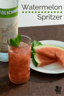 Small Of Watermelon Vodka Drink
