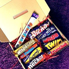 Cadbury Bar Lover's Mega Chocolate Box – Curly Wurly, Wispa Gold, Picnic, Fudge, Dairy Milk, Caramel, Wispa, Double Decker, Twirl And Crunchie – By Moreton Gifts