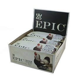 Epic All Natural Meat Bar, 100% Natural, Chicken Sesame & BBQ, 1.5 ounce, 12 Count