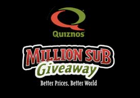 Quiznos million sub giveaways