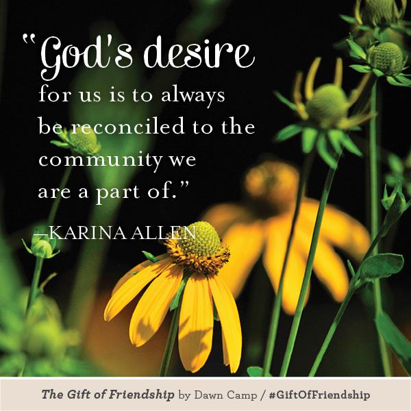 Karina Allen The Gift of Friendship #GiftofFriendship