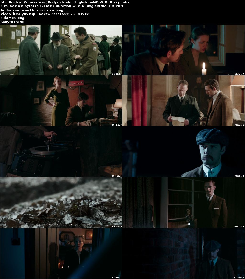 The Last Witness 2018 WEB-DL 750MB English 720p ESub Download