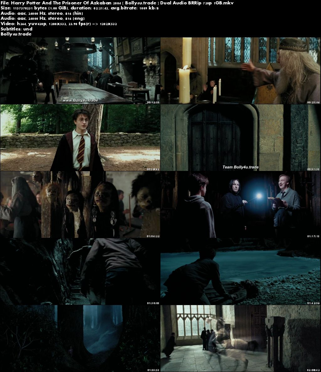 Harry Potter And The Prisoner Of Azkaban 2004 BRRip 450MB Hindi Dual Audio 480p Download
