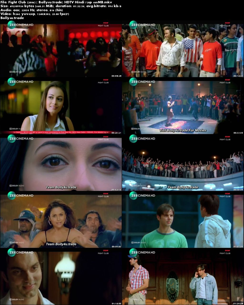 Fight Club 2006 HDTV 280MB Full Hindi Movie Download 480p