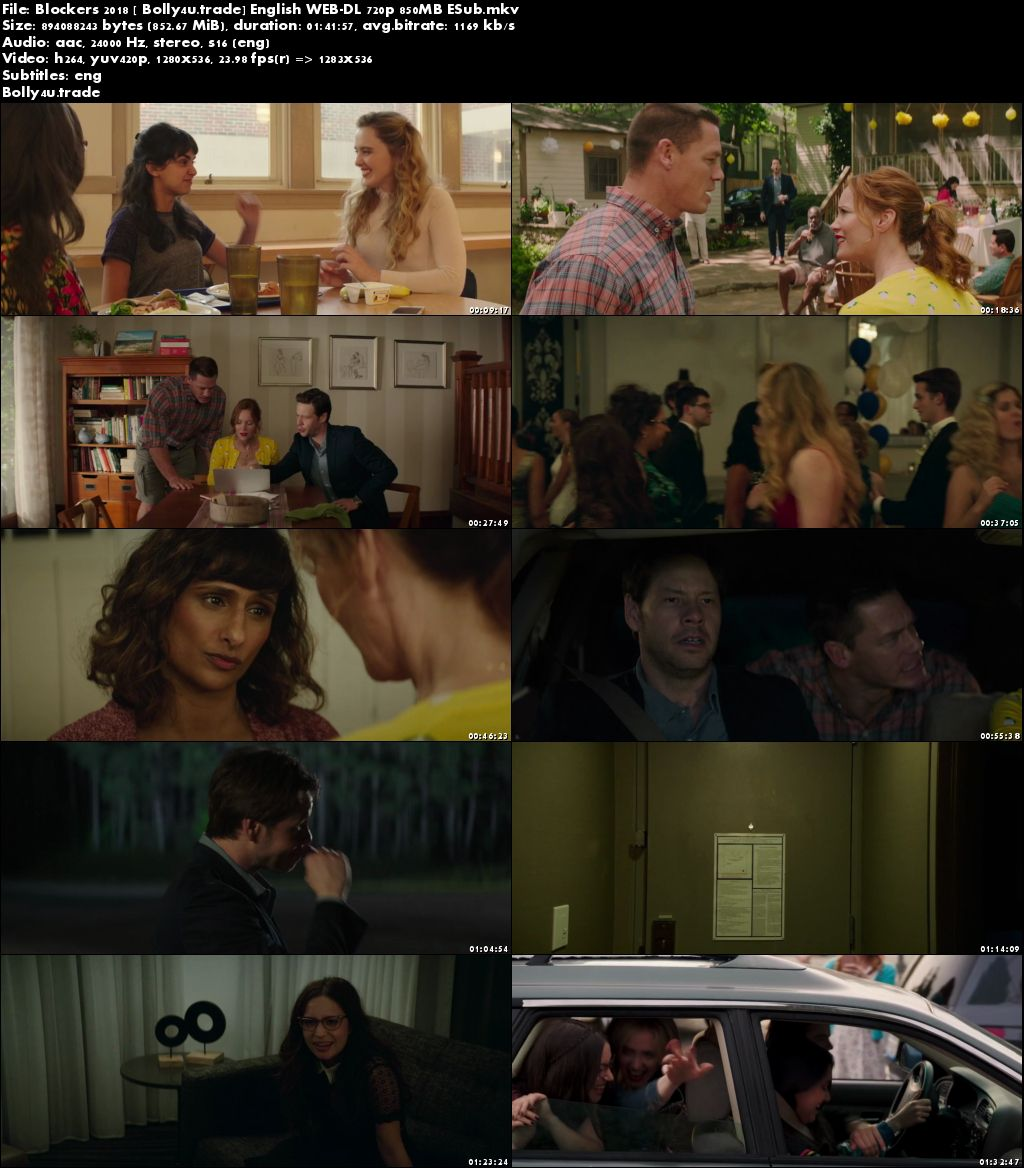 Blockers 2018 WEB-DL 300MB English 480p ESub Download