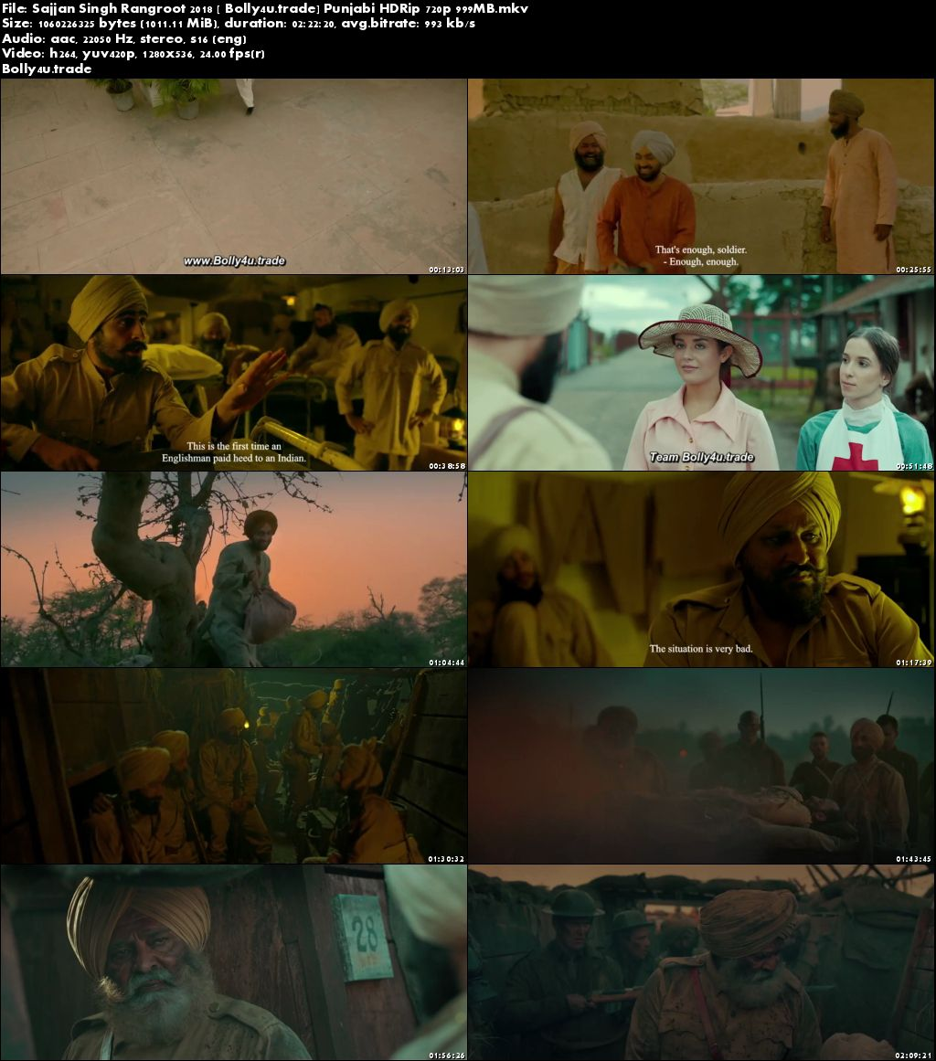 Sajjan Singh Rangroot 2018 HDRip 400MB Punjabi 480p Download