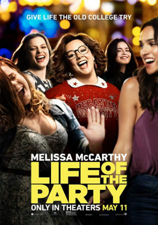 Life of the Party 2018 WEB-DL 850MB English 720p Watch Online Full movie Download Worldfree4u 9xmovies