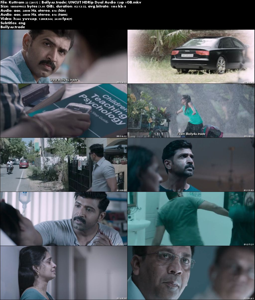 Kuttram 23 2017 HDRip 400MB UNCUT Hindi Dual Audio 480p Download