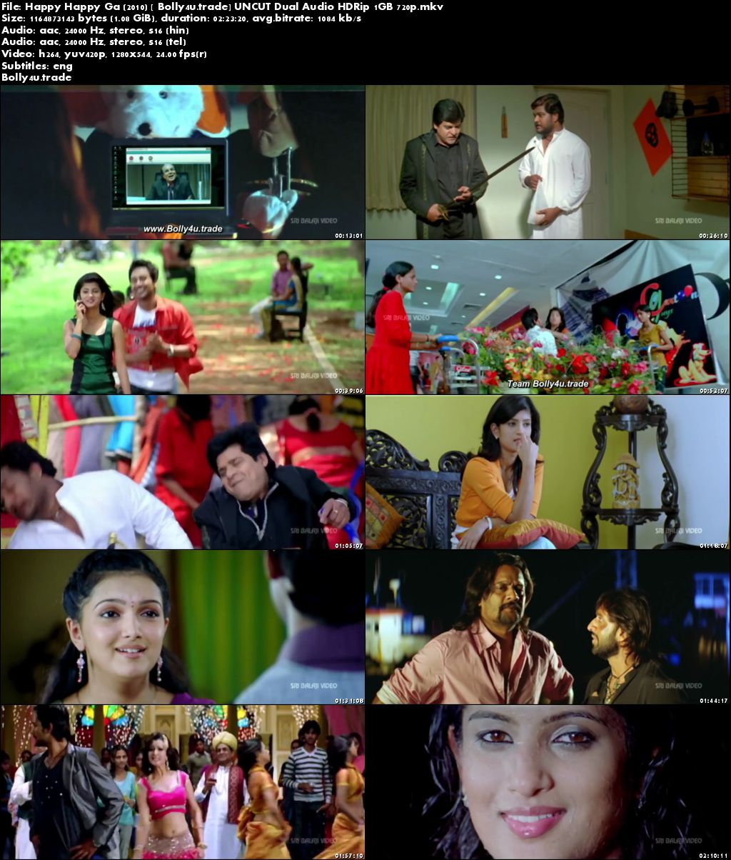 Happy Happy Ga 2010 HDRip 450Mb Hindi UNCUT Dual Audio 480p Download