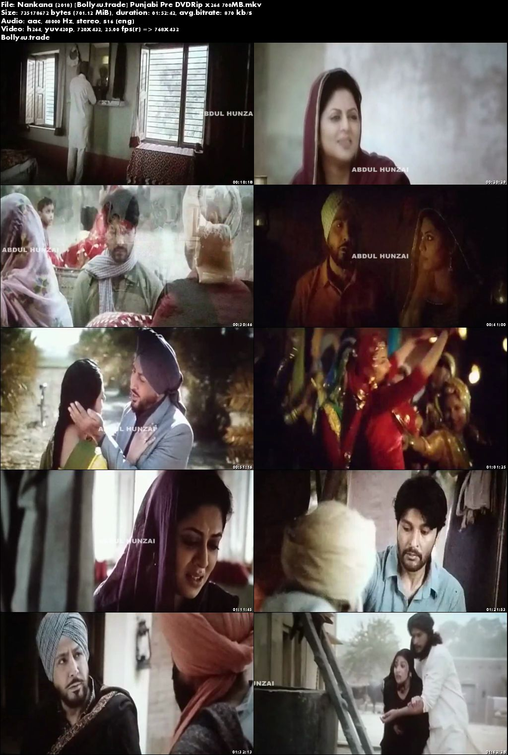 Nankana 2018 Pre DVDRip 350Mb Full Punjabi Movie Download 480p