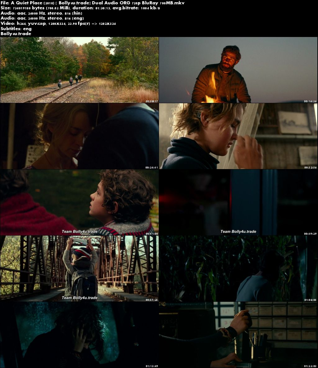 A Quiet Place 2018 BluRay 700MB Hindi Dubbed Dual Audio ORG 720p Download