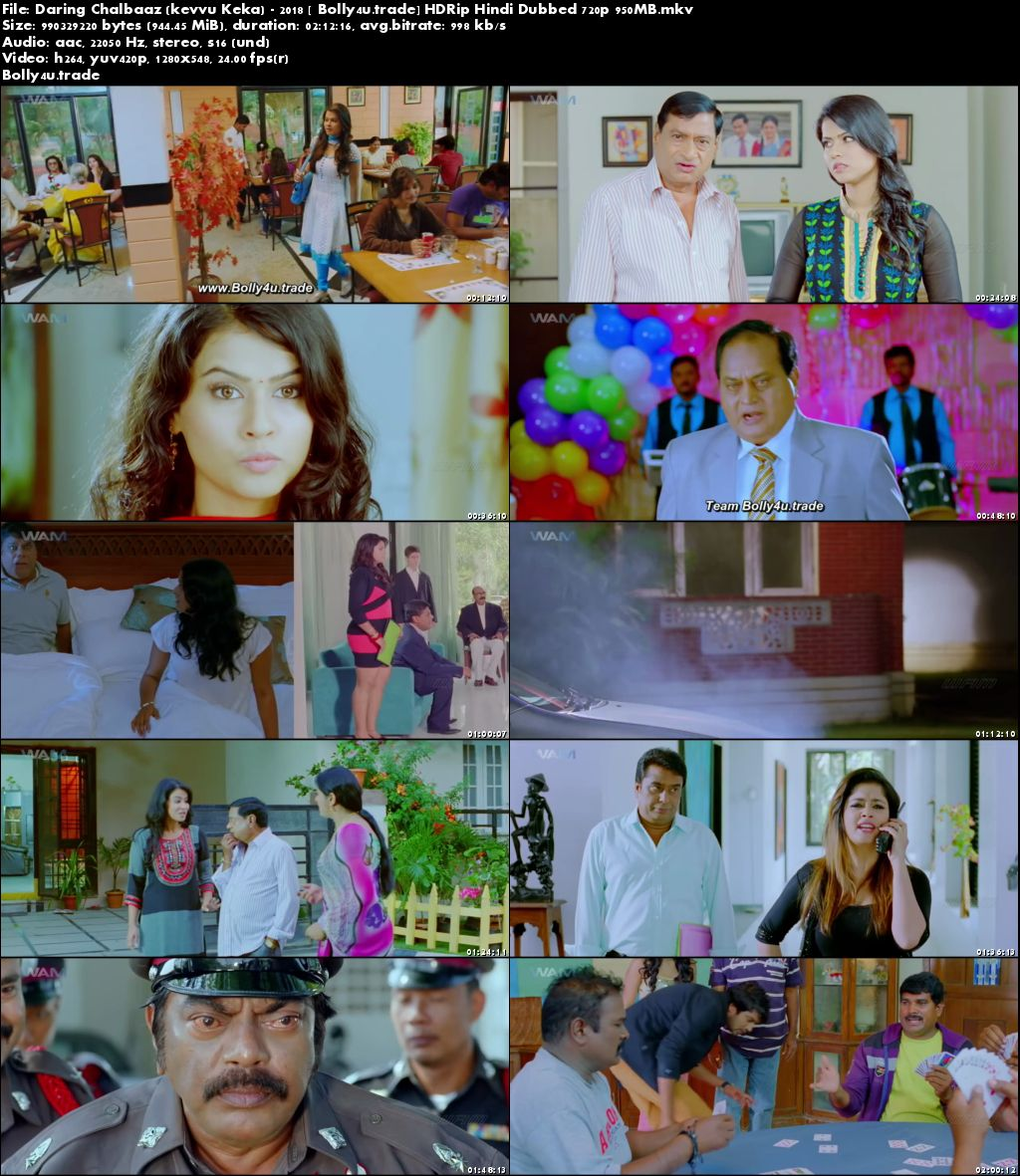 Daring Chalbaaz 2018 HDRip 350Mb Full Hindi Dubbed Movie Download 480p