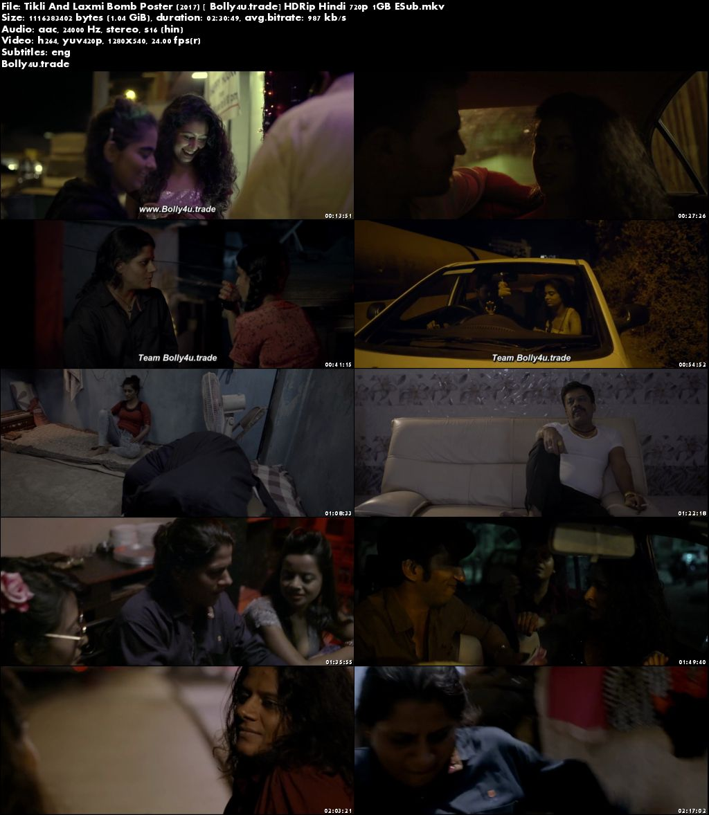 Tikli And Laxmi Bomb Poster 2017 HDRip 400MB Full Hindi Movie Download 480p