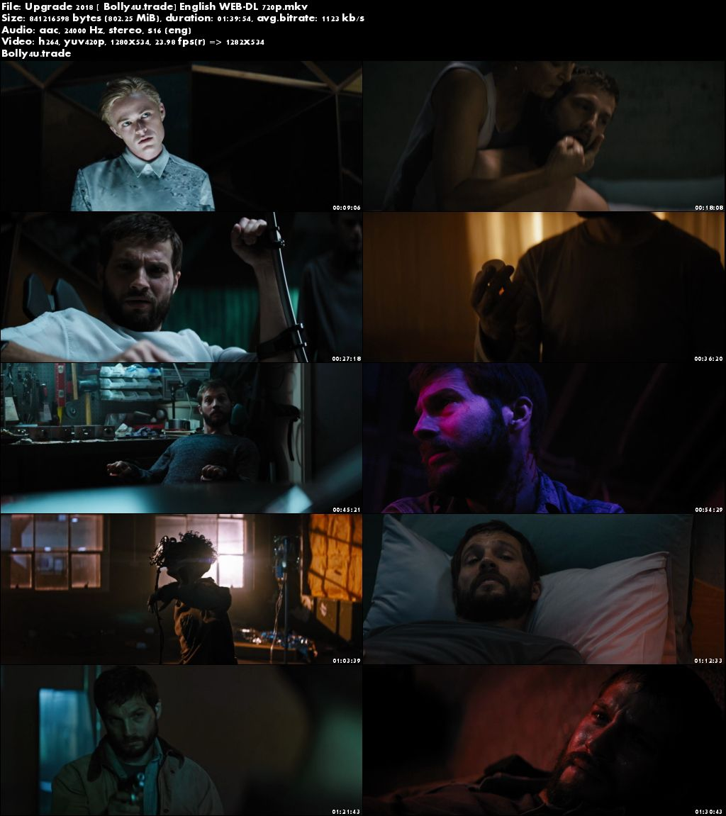 Upgrade 2018 WEB-DL 300MB Full English Movie Download 480p ESub