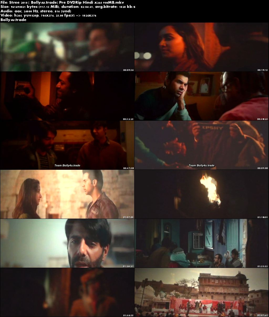 Stree 2018 Pre DVDRip 700Mb Full Hindi Movie Download x264