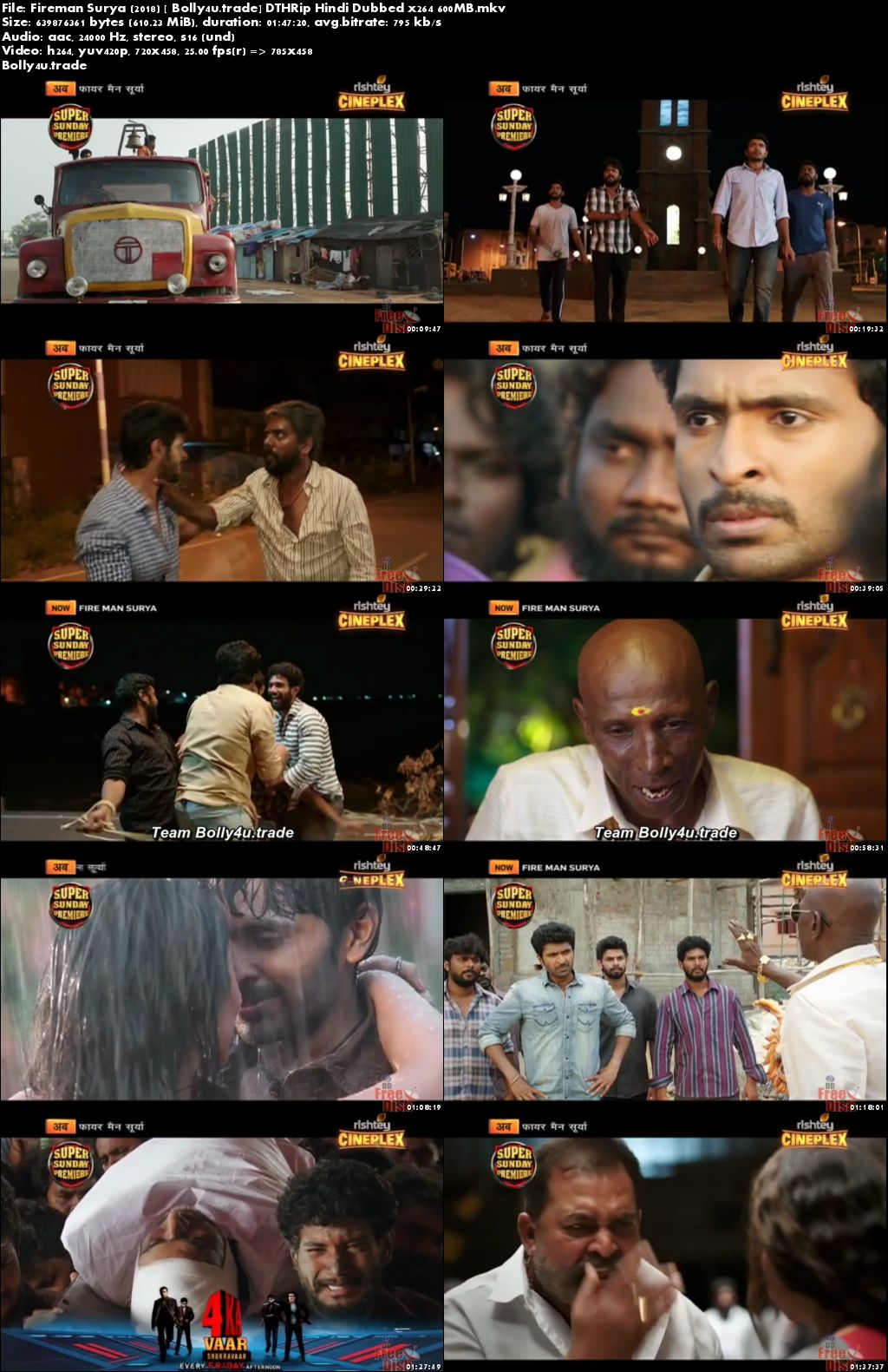 Fireman Surya 2018 DTHRip 300MB Full Hindi Dubbed Movie Download 480p