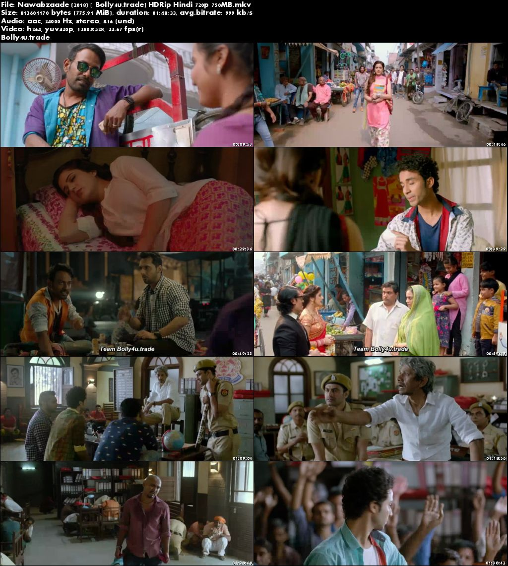 Nawabzaade 2018 HDRip 300Mb Full Hindi Movie Download 480p