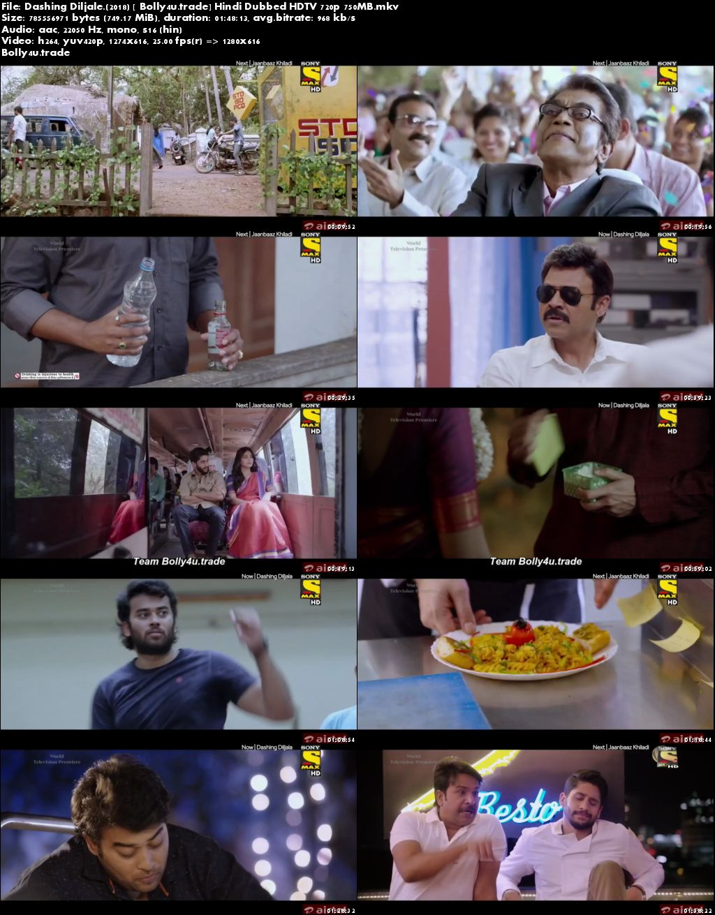 Dashing Diljale 2018 HDTV 750Mb Full Hindi Dubbed Movie Download 720p