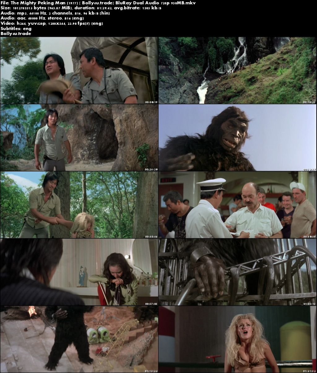The Mighty Peking Man 1977 BluRay 300MB Hindi Dual Audio 480p Download