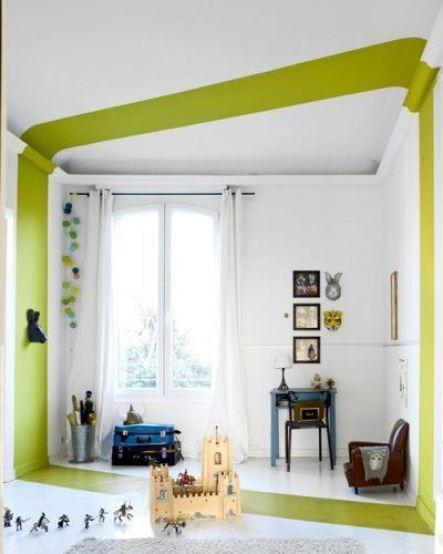 soffitto originale fascione verde