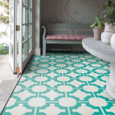 linoleum turquoise-flooring www.harveymaria.co.uk