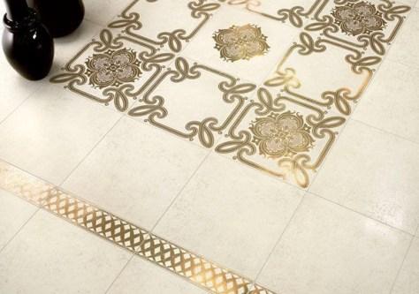 stencil-dorato-per-decorare-il-pavimento