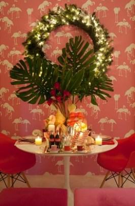 Maria Barros interior designer portoghese designer di flamingos Miami Addiction carta da parati in colorazioni