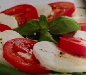 tomatoes in caprese salad
