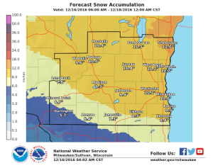 Obtained via National Weather Service