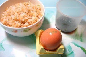 Egg and Rice Ingredients
