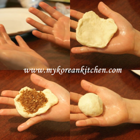 Korean Sweet Pancakes (Hoddeok) - Fully Home Made Version doughing