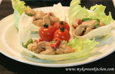 Stir Fried Chicken Wrapped with Iceberg Lettuce2