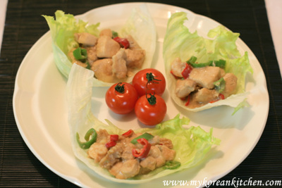 Stir Fried Chicken Wrapped with Iceberg Lettuce3