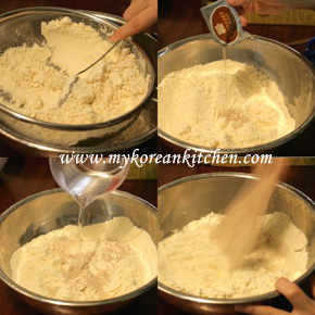 Sweet Pancake Mix (Hoddeok) prep1