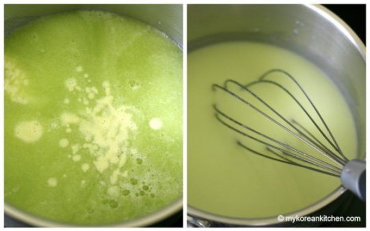 Mixing Melon with cream &amp; honey
