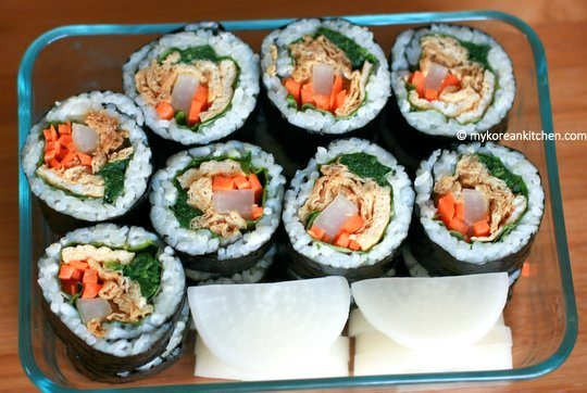 Yubu Kimbap in a Lunchbox