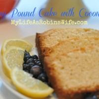 Lemon Pound Cake with Coconut Oil - Take 2