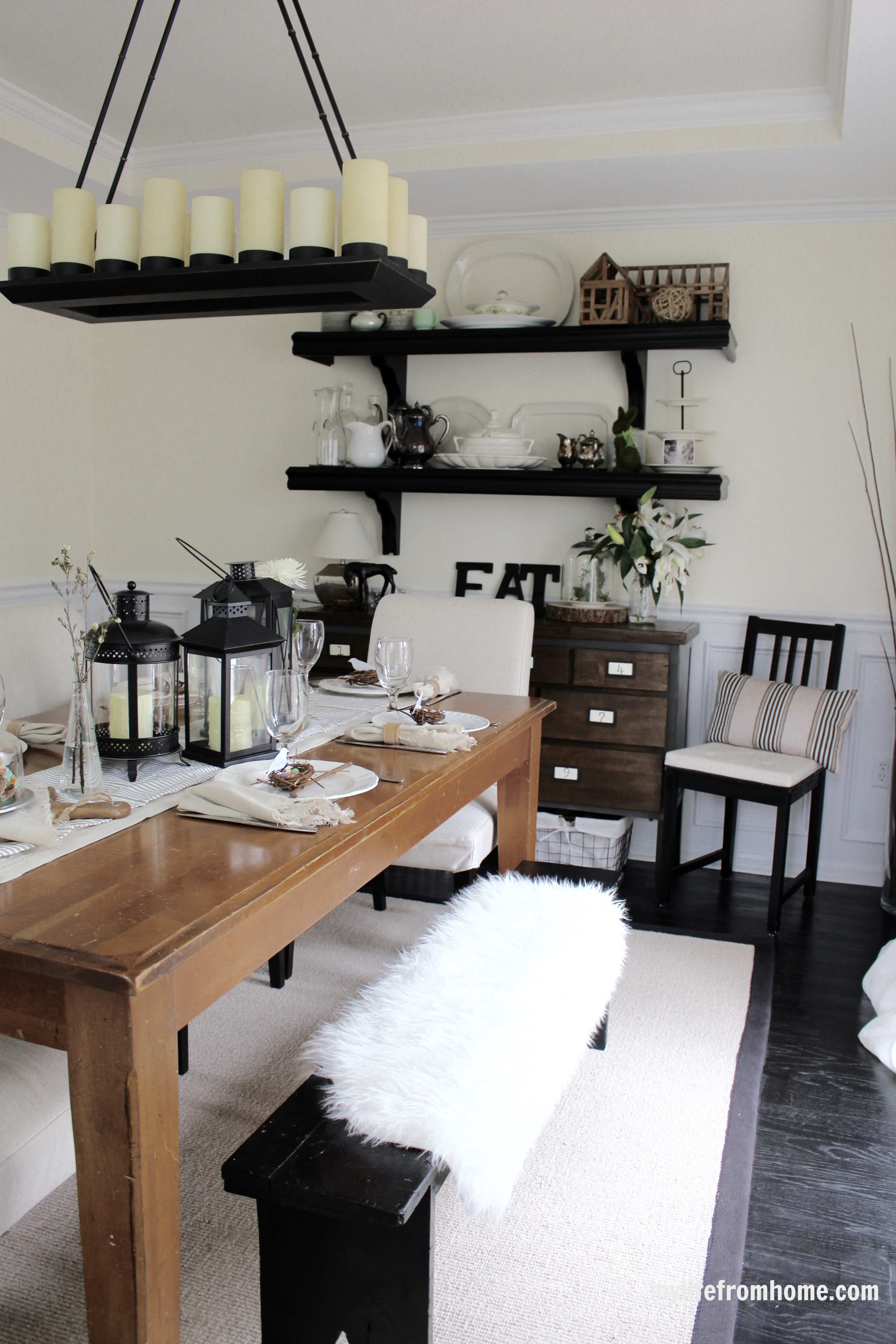 Spring Dining Room by www.mylifefromhome.com
